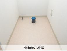 床給水・床排水の配管工事例