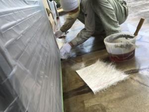 ガラスマットの施工
