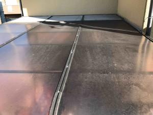 工事前のSH様のサンルームの屋根です。※三協アルミ製