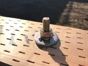 土台と基礎のアンカーボルトの接合部分での取付施工例