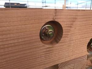 桁と梁などの横架材の接合部分の取付施工例