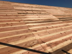 野地板(杉の無垢板 厚み12mm)