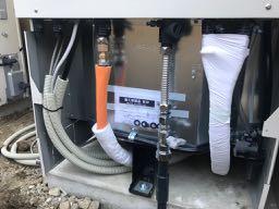 日立井戸水対応エコキュートの取付と配管工事