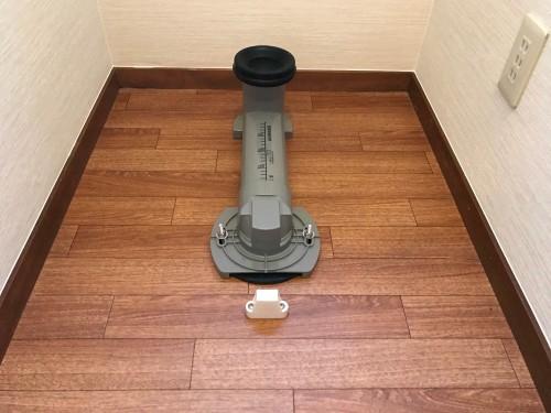 トイレリフォーム工事中の写真