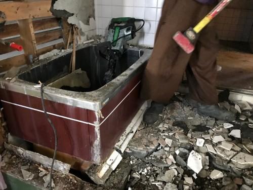 お風呂の解体工事