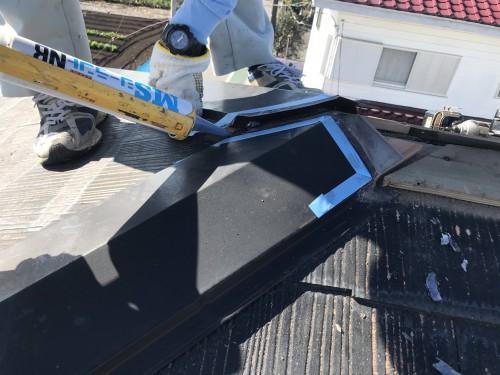 下地板である貫板(杉板など)を交換してビス留めする方法